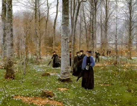 Hans Andersen Brendekilde - 6 A spring day - Forest walk 1890