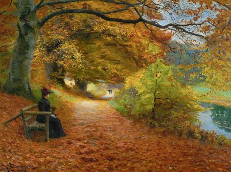 Hans Andersen Brendekilde - 6 Wooded path in autumn 1902