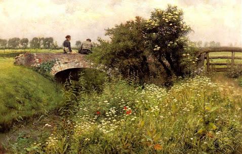 Hans Andersen Brendekilde - 8 A Meeting on the Bridge