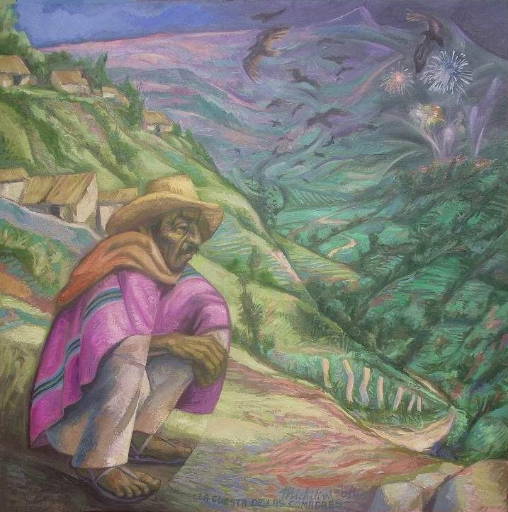 2-Sergio-Michilini-LA-CUESTA-DE-LAS-COMADRES-Juan-Rulfo.-El-llano-en-llamas-2011-oleo-sobre-tela-cm.80x80