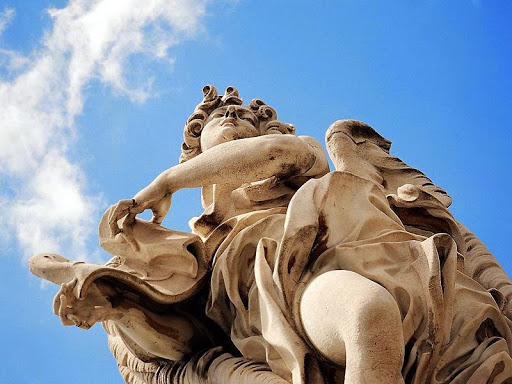 Juan Lorenzo Bernini - 5 vFountain of the Four Rivers-detalle5 Piazza Navona- Rome- 1649-51