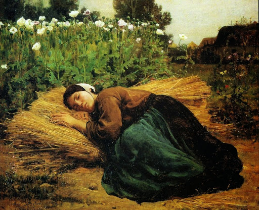 Jules Breton - 10 A Rest in the Fields 1866