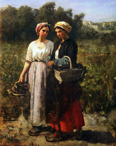 Jules Breton - 19 The Grape Harvest at the Chateau-Lagrange