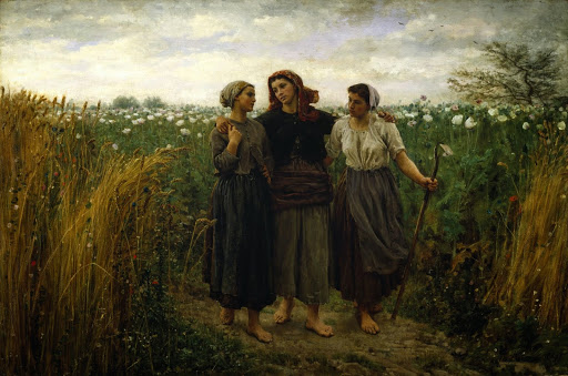 Jules Breton - 2 Returning from the Fields 1871