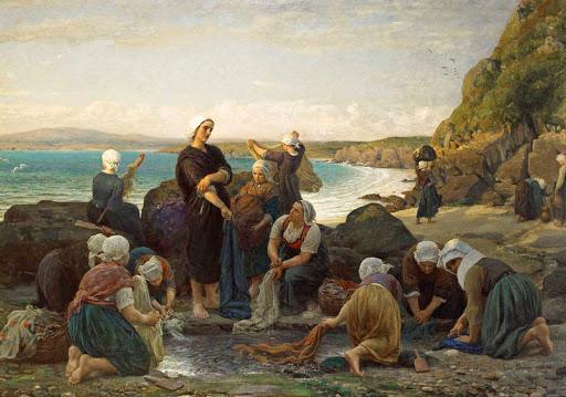 Jules Breton - 2 Washerwomen of the Breton Coast 1870