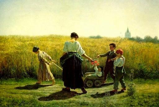 Jules Breton - 7 La salida de los campos