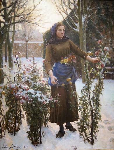 Jules Breton - 8 Last Flowers 1890