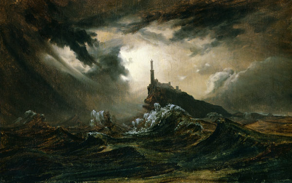 Stormy-sea-with-Lighthouse