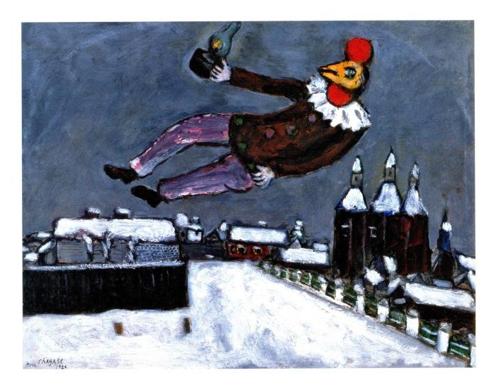hombre-gallo-por-encima-de-vitebsk-homme-coq-au-dessus-de-vitesbk-1925-o-s-carton-49-x-645-cm-coleccion-particular