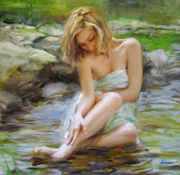 pintura-de-mujer-en-rio